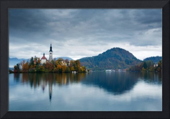Autumn colours at Lake Bled