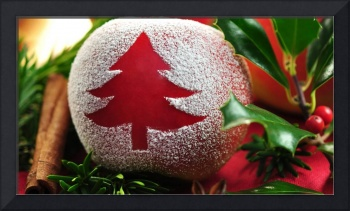 Frosted Christmas Tree Ornament