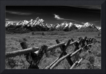 _MG_2695.Buffalow Valley rail fence.1.B&W