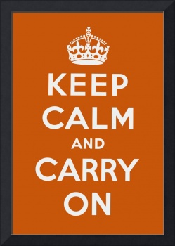 Orange Keep Calm And Carry On