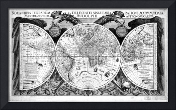 Black and White World Map (1630)