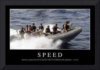 Speed: Inspirational Quote and Motivational Poster