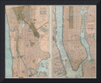 Vintage Map of New York City (1899)