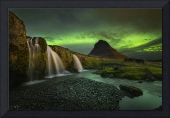 Kirkjufell Mountain Northern Lights in Iceland by