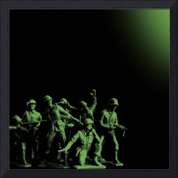 Plastic Army Man Battalion Black and Green