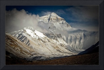 Everest from Rongbuk, Tibet, after fresh snow