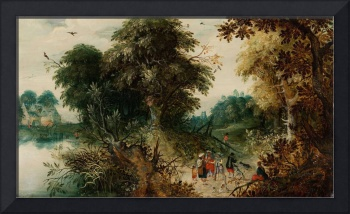 Abraham Govaerts~Forest View with Travellers