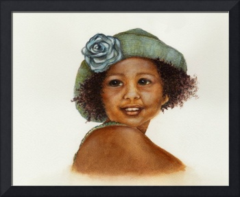 Little Girl in Straw Hat