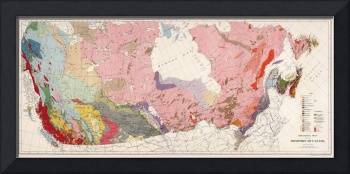 Vintage Geological Map of Canada (1915)