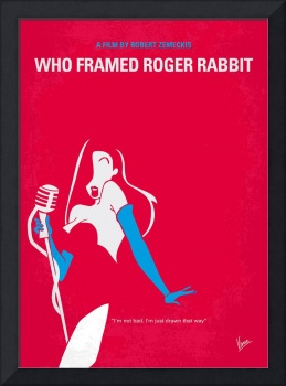 No271 My ROGER RABBIT minimal movie poster