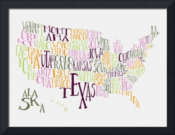 Teen Spirit US Typography Map