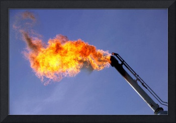 Gas Flare-Oil Industry-Oilfield Framed Photo