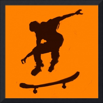 Skateboarder 3 . orange brown (c)