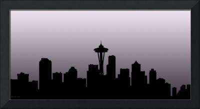 Decorative Skyline Abstract  Seattle T1115X