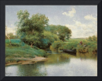 Emilio Sánchez-Perrier,  Boating on the River c. 1