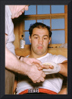 Rocky Marciano Getting Taped Up