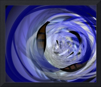 Digital painting of swirling water