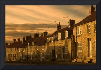 Houses At Dusk, Thornton Le Dale, Yorkshire, Engla