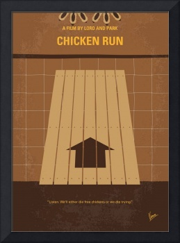 No789 My Chicken Run minimal movie poster