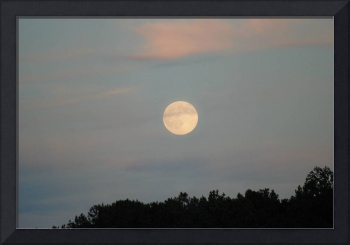 full moon rising early evening