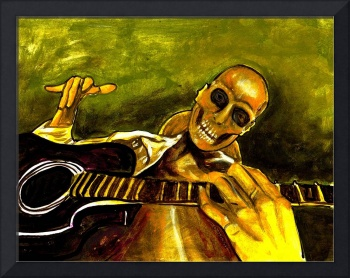 wicked skeleton guitar player