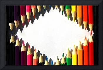 Colored Pencil Diamond Shape