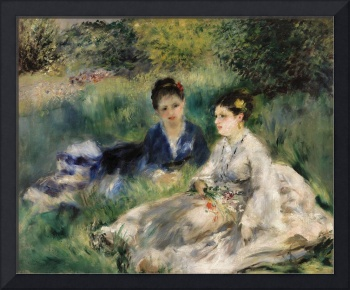 On the Grass (1873) by Pierre-Auguste Renoir