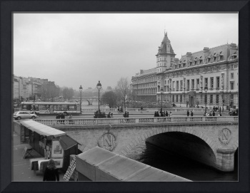 Paris France Bridge Over The River Seine