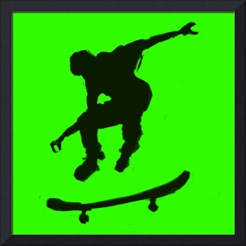 Skateboarder 3 . green yellow (c)