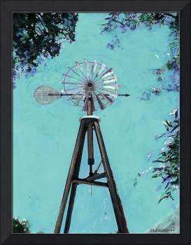 Windmill in Old Town San Diego by Riccoboni