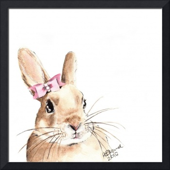 Bunny with a Pink Hair Bow