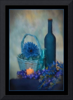 7561PS Blue Heaven Still Life Painting