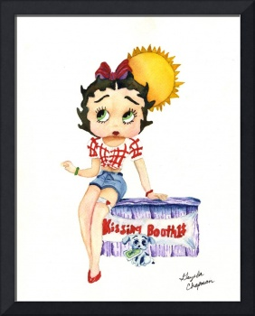 Betty Boop in a Kissing Booth