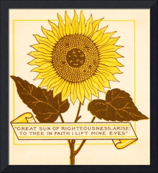 Bible Sunflowers, title page from 1890 book