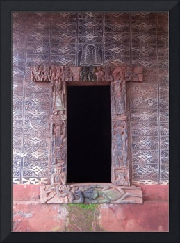 Palace Doorway at Bafoussam Palace, Cameroon