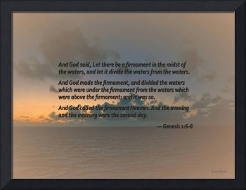 Genesis 1 6-8 Let there be a firmament