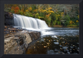 Hooker Falls in Autumn - Fall Foliage in Dupont St