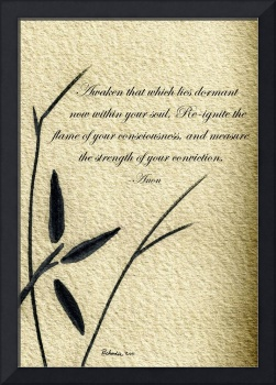 Zen Sumi 4f Antique Motivational Flower Ink