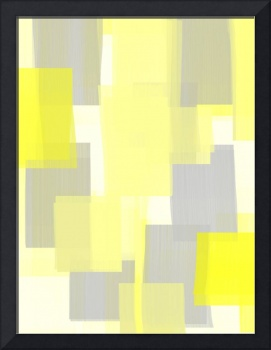 Grey and Yellow Abstract Art Design