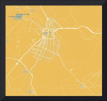 Minimalist Modern Map of Kirkuk, Kurdistan, Iraq 3