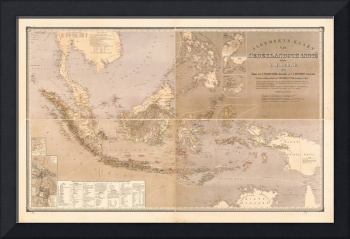 Map of Indonesia (1869-1870)
