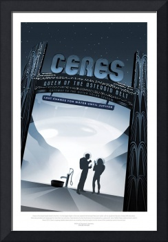 NASA Ceres Space Travel Poster