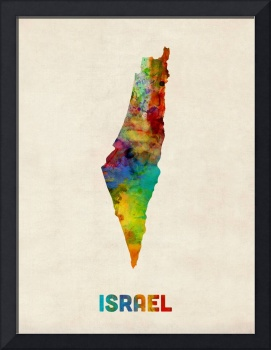 Israel Watercolor Map