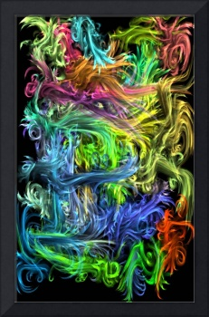 Blue And Green Multicolor Digital Art