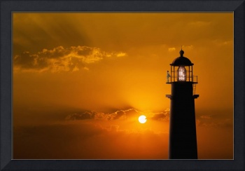 Lighthouse-At-Sunset