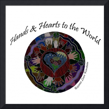 Hands and Hearts to the World (With Words)