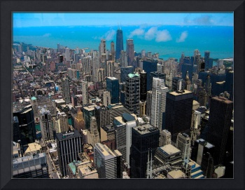 Chicago Skyline Water Color Painting Effect 3