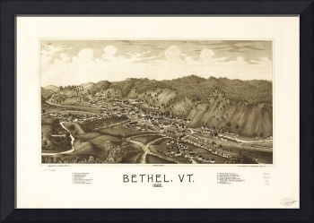 Aerial View of Bethel, Vermont (1886)