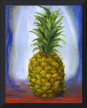 Impressionist Pineapple Art; Fruit Still Life