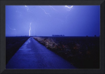 Road in Country w/Lightning Bolt